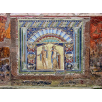 A restored mosaic from a prominent house in Herculaneum, featuring Poseidon and his wife Salacia (deities known in Greece as Neptune and Amphitrite) .